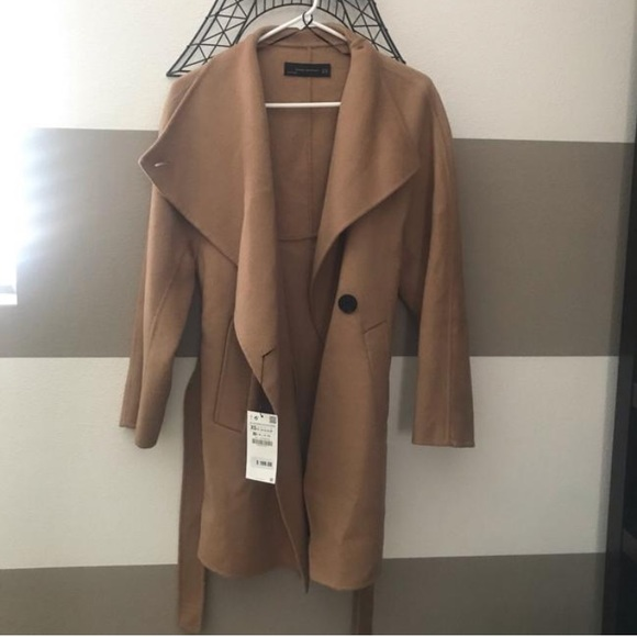 11eda79f Zara Camel Wool Wrap Coast NWT